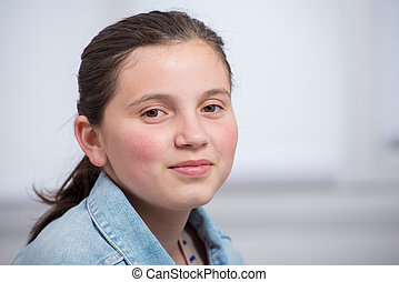 portrait of pretty young teenager girl
