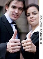 positive business couple