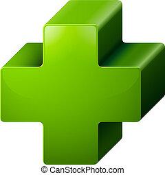 A positive medical symbol