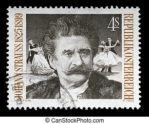 A postage stamp printed by Austria shows image portrait of...