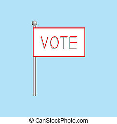 """A poster with the word """"vote"""". illustration."""