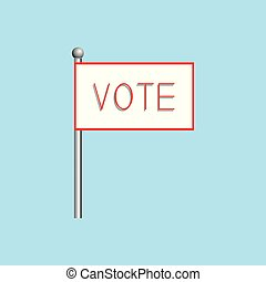 "A poster with the word ""vote"". Vector illustration."