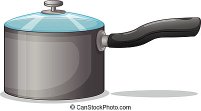 Illustration of a pot on a white background