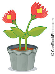 A pot of plant with flower
