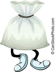A pouch - Illustration of a pouch on a white background