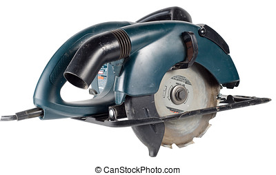 A power saw, isolated with clipping path