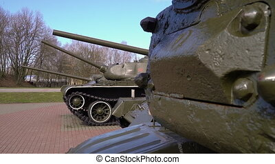 A powerful military tank - A shot of a tank used for...