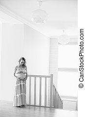 a  pregnant woman