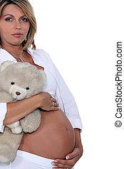 a, pregnant, woman.