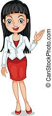 A pretty business icon with a white blazer