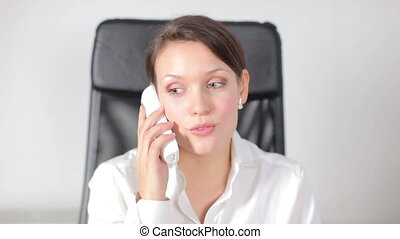 a pretty customer service operator or secretary