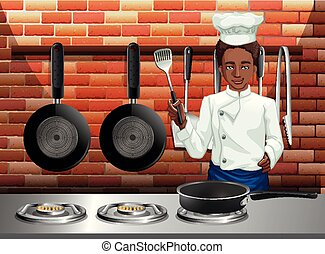 A Professional Chef Cooking Food