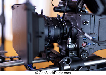 A professional video camera. - Camera for shooting feature ...