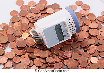 A programmable thermostat on one-cent euro coins