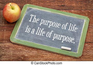 a, propósito, de, vida, conceito