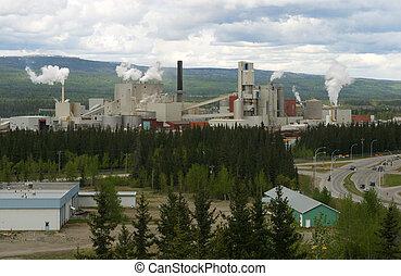 pulp mill - A pulp mill in Hinton,Alberta,Canada.
