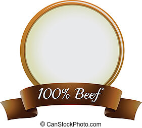 A pure beef label