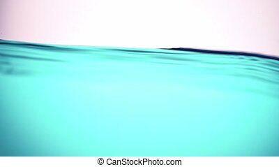 A pure blue wave of water, with a moderate, calm swing, a ...