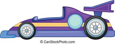 a purple car