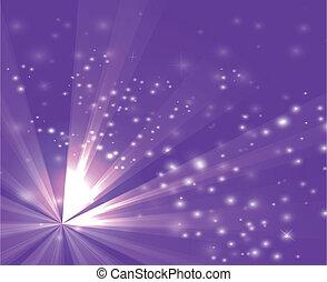 A purple color design with a burst