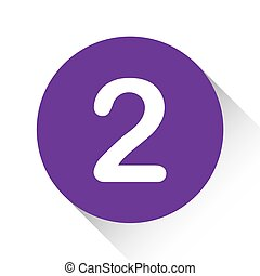 Purple Icon Isolated on a White Background - 2