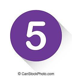 Purple Icon Isolated on a White Background - 5