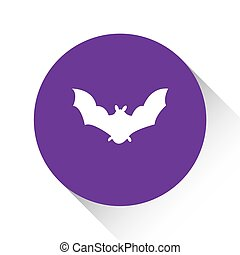 Purple Icon Isolated on a White Background - Bat