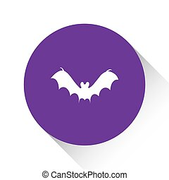 Purple Icon Isolated on a White Background - Bat2