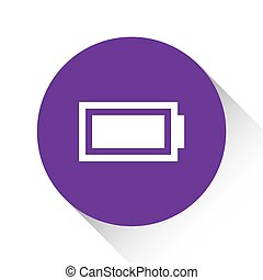 Purple Icon Isolated on a White Background - Battery