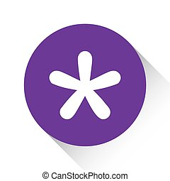 Purple Icon Isolated on a White Background - Blobbed Star