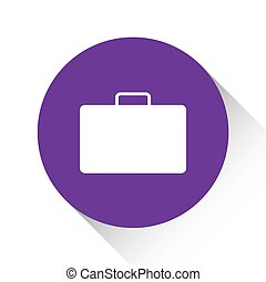 Purple Icon Isolated on a White Background - Briefcase