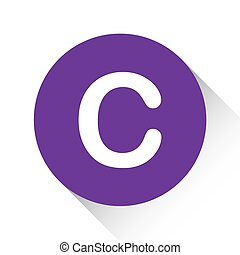 Purple Icon Isolated on a White Background - C