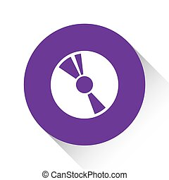 Purple Icon Isolated on a White Background - CD