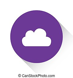 Purple Icon Isolated on a White Background - Cloud