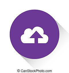 Purple Icon Isolated on a White Background - Cloud Upload