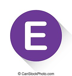Purple Icon Isolated on a White Background - E