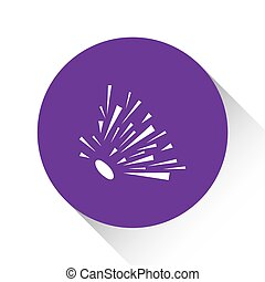 Purple Icon Isolated on a White Background - Explosion