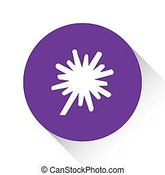 Purple Icon Isolated on a White Background - Explosion Thick