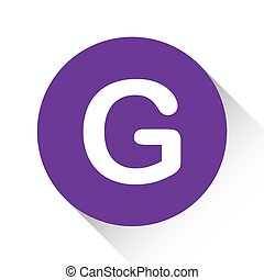 Purple Icon Isolated on a White Background - G