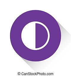 Purple Icon Isolated on a White Background - Halftone