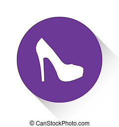 Purple Icon Isolated on a White Background - High Heels