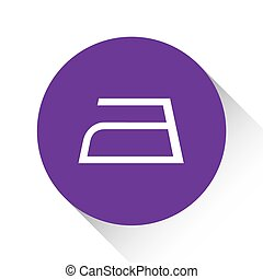 Purple Icon Isolated on a White Background - Iron