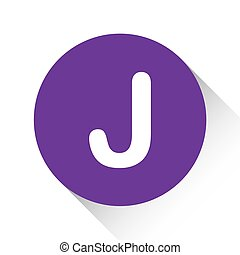 Purple Icon Isolated on a White Background - J