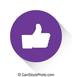 Purple Icon Isolated on a White Background - Like