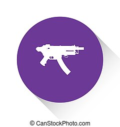 Purple Icon Isolated on a White Background - MAchine Gun