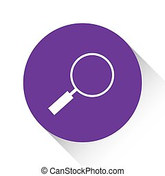 Purple Icon Isolated on a White Background - Magniying Glass