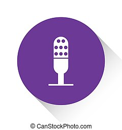 Purple Icon Isolated on a White Background - Microphone