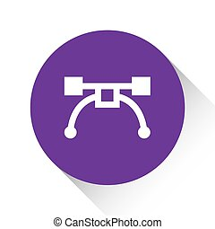 Purple Icon Isolated on a White Background - Pen Tool