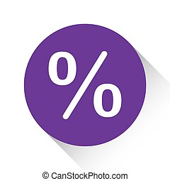 Purple Icon Isolated on a White Background - Percent