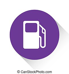 Purple Icon Isolated on a White Background - Petrol Pump